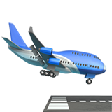 Airplane Arriving ios emoji