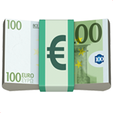 Banknote With Euro Sign ios/apple emoji