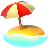 Beach With Umbrella ios emoji