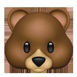 Bear Face ios emoji