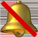 Bell With Cancellation Stroke ios/apple emoji
