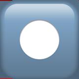 Black Circle For Record ios emoji