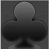 Black Club Suit ios/apple emoji