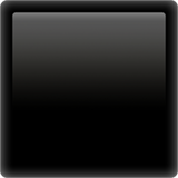 Black Large Square ios/apple emoji