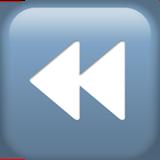 Black Left-pointing Double Triangle ios/apple emoji
