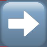 Black Rightwards Arrow ios emoji