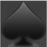 Black Spade Suit ios/apple emoji