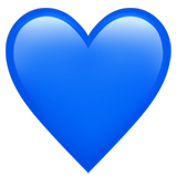 Blue Heart ios/apple emoji
