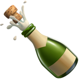 Bottle With Popping Cork ios emoji