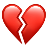 Broken Heart ios/apple emoji