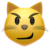 Cat Face With Wry Smile ios/apple emoji