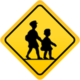 Children Crossing ios/apple emoji