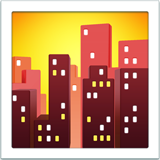 Cityscape At Dusk ios/apple emoji