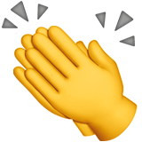 Clapping Hands Sign ios emoji