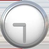 Clock Face Nine-thirty ios/apple emoji