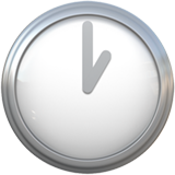 Clock Face One Oclock ios emoji