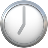 Clock Face Seven Oclock ios/apple emoji