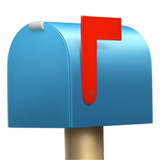 Closed Mailbox With Raised Flag ios emoji