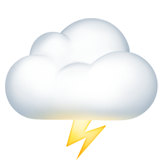 Cloud With Lightning ios/apple emoji