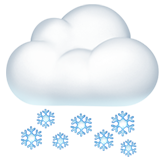 Cloud With Snow ios emoji