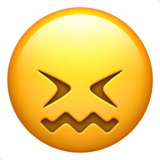 Confounded Face ios emoji
