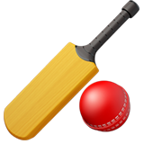 Cricket Bat And Ball ios emoji