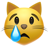 Crying Cat Face ios emoji