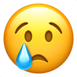 Crying Face ios/apple emoji