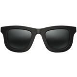 Dark Sunglasses ios emoji