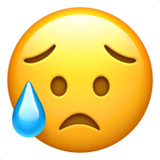 Disappointed But Relieved Face ios emoji