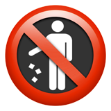 Do Not Litter Symbol ios/apple emoji