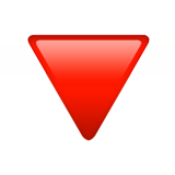 Down-pointing Red Triangle ios emoji