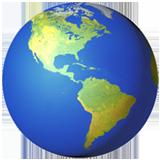 Earth Globe Americas ios/apple emoji