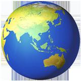Earth Globe Asia-australia ios emoji