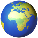 Earth Globe Europe-africa ios/apple emoji