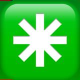 Eight Spoked Asterisk ios emoji