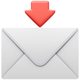 Envelope With Downwards Arrow Above ios emoji