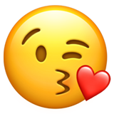Face Throwing A Kiss ios emoji