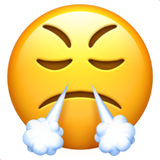 Face With Look Of Triumph ios emoji