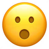 Face With Open Mouth ios/apple emoji
