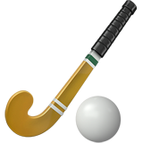 Field Hockey Stick And Ball ios emoji