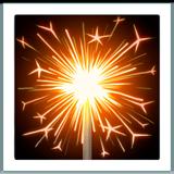 Firework Sparkler ios/apple emoji