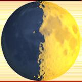 First Quarter Moon Symbol ios emoji