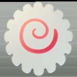 Fish Cake With Swirl Design ios/apple emoji