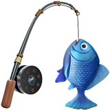 Fishing Pole And Fish ios/apple emoji