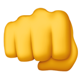 Fisted Hand Sign ios emoji