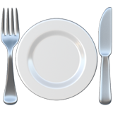 Fork And Knife With Plate ios/apple emoji