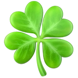 Four Leaf Clover ios emoji