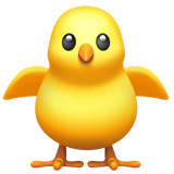 Front-facing Baby Chick ios emoji