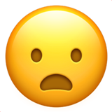 Frowning Face With Open Mouth ios emoji